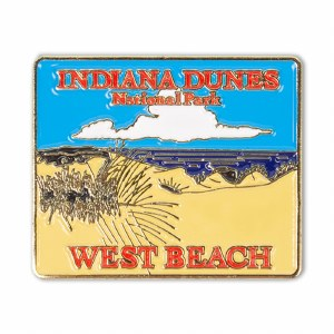 Indiana Dunes West Beach Pin