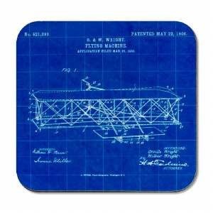 Wright Flyer Blueprint Coaster