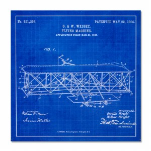 Wright Flyer Blueprint Magnet