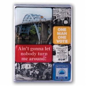 Selma To Montgomery Mini Magnets