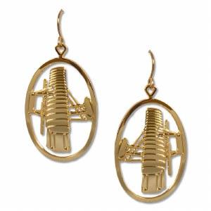 Wright Flyer Gold Earrings