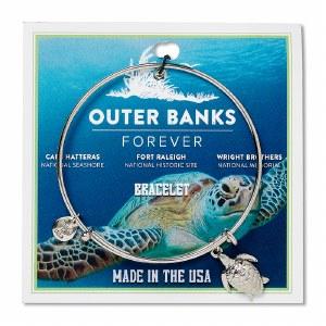 Outer Banks Forever Turtle Charm Bracelet