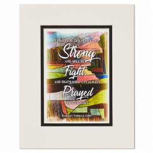 Harriet Tubman Strong Quote Print