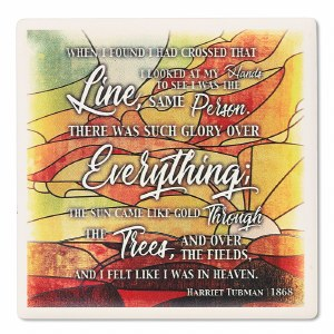 Harriet Tubman Crossed Quote Coaster