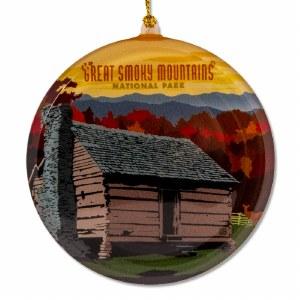 Great Smoky Mountain Cabin Sun Catcher