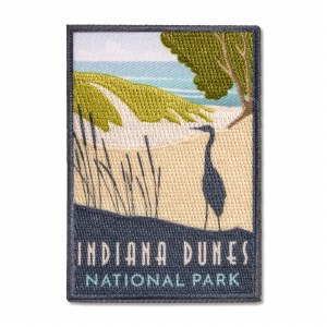 Indiana Dunes National Park Retro Patch