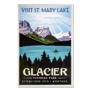 Glacier National Park Poster