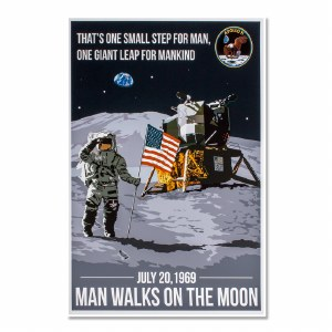 Vintage Moon Landing Commemoration Poster