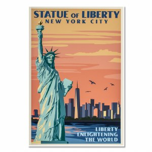 Statue of Liberty National Park Vintage Poster