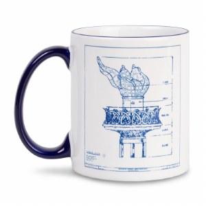 Statue Of Liberty Blueprint Mug
