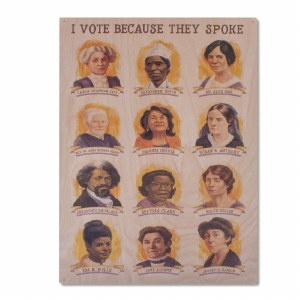 Suffragists Portraits Wooden Poster