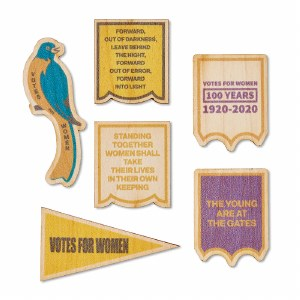 19th Amendment Wooden Sticker Set
