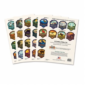 62 National Parks Emblem Sticker set