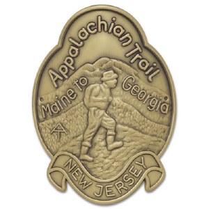Appalachian Trail Hiking Medallion - New Jersey