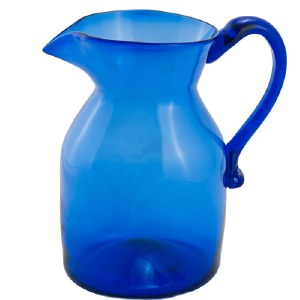 Handblown Cobalt Pitcher