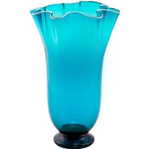 Teal Wave Vase