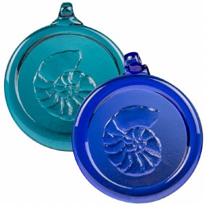 Handcrafted Glass Ornament - Nautilus Shell