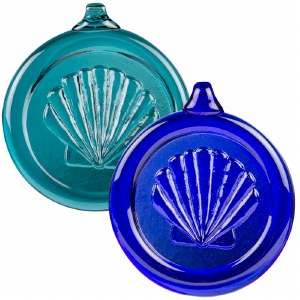Handcrafted Glass Sea Shell Ornament