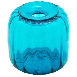 Teal Glass Inkwell