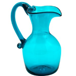 Teal Heart Pitcher