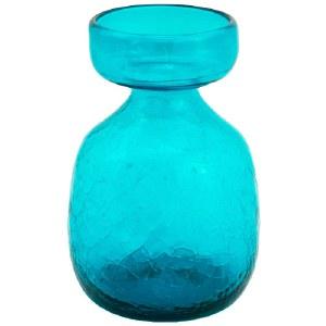 Teal Crackled Glass Bulb Forcer