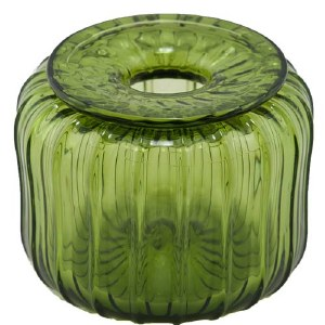 Green Glass Inkwell