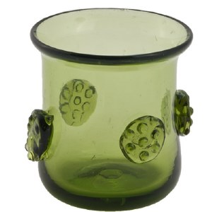 Handblown Brandy Shot Glass (Green)