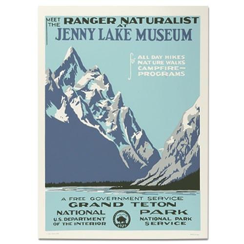 Grand Teton National Park Poster: Grand Tetons National Park WPA Travel Poster