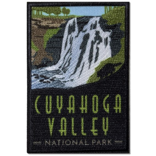 Iron on Brandywine Falls Cuyahoga Valley National Park Patch Ohio