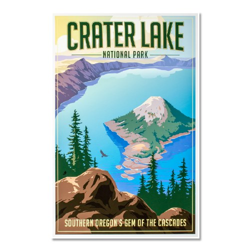 Crater Lake National Park Poster Shop Americas National Parks