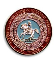 Confederate Seal Lapel Pin
