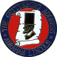 Lincoln Gettysburg Address Pin