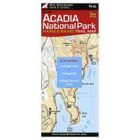 Acadia National Park Hiking & Biking Trail Map