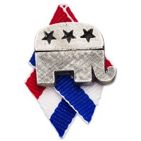 Republican Elephant Pewter Pin