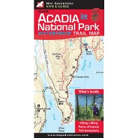 Acadia National Park Waterproof Trail Map