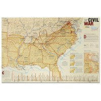 Battles of the Civil War National Geographic Map
