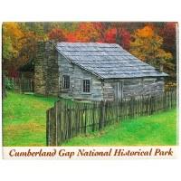 Cumberland Gap Lige Gibbons Cabin Magnet