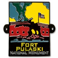 Fort Pulaski National Monument Hiking Stick Medallion