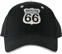 Black Route 66 Baseball Cap