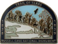 Russell Cave NM Trail of Tears Pin