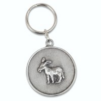 Democratic Donkey Pewter Key Ring