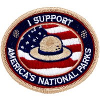 """I Support America's National Parks"" Patch"