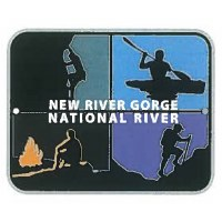 New River Gorge National River Adventures Hiking Stick Medallion