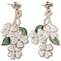 White Dogwood Earrings
