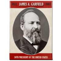 James A. Garfield Portrait Magnet