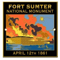 Fort Sumter National Monument Hiking Stick Medallion