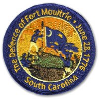The Defence of Fort Moultrie Embroidered Patch