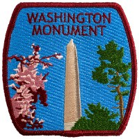 Washington Monument Embroidered Patch