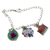Ford's Theatre Silver Tone Charm Bracelet