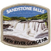 New River Gorge National River Sandstone Falls Embroidered Patch